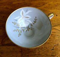 Vintage Edelstein Bavaria China Footed Grey Coffee Tea Cup Gold Trim 201359 C129