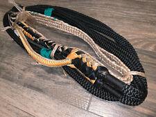 Black Mini Bull Rope Kids 9/7 Lh - Ept Custom Bull riding rodeo bull rider 12'