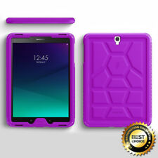 For Samsung Galaxy Tab S3 9.7 | Poetic [Anti-Slip] Purple Silicone Cover Case