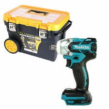 Makita DTW285 18V Brushless Impact Wrench With 24'' Tool Box Chest on Wheel