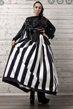 BNWOT Metamorphoza High Waist Maxi Skirt Monochrome Black & White Oversize Long