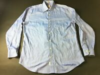 Peter Millar Mens Blue Front Pocket Button Front Long Sleeve Shirt Size Large