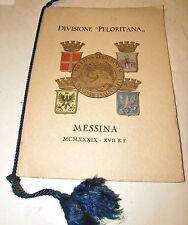 Calendario Divisione peloritana Messina anno 1939