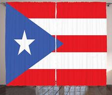 Puerto Rico Cortina Bandera con las rayas de la estrella