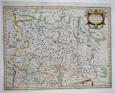 1633 Jansson (Ortelius) Map Poland Silesia Wroclaw Krakow Oder Decorative Scarce