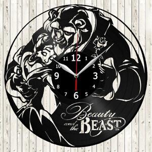 Beauty And The Beast Vinyl Record Wall Clock Decor Handmade 3825