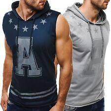 Ärmellose Herren-Fitnessmode mit Taschen für Fitness