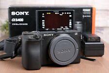Sony Alpha a6400 24.2MP Digital Camera - Black Body, ILCE-6400/B w/Box & Charger