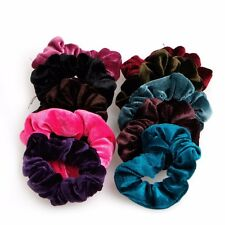 10x Lovely Women's Velvet Hair Band Elastic Ponytail Tie Bow Rubber Bobbles