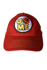 WWE AUTHENTIC JOHN CENA U Can'T See Me Red Baseball Cap Hat