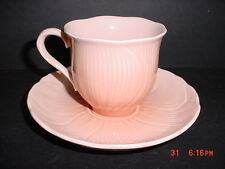MIKASA SPRING AMARYLLIS FOOTED CUP & SAUCER  BY LARRY LASLO
