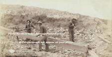 Antique 1889 Wild West Photo of Gold Rush Mining/Panning for Gold Ore/Nuggets
