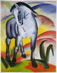 blue-horse  Franz Marc Movie Poster Canvas Picture Art Print Premium Quality