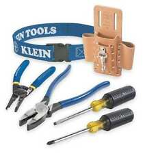 Klein Tools 80006 6-PieceTrim Out Tool Set, Leather Pouch is BLACK not Tan