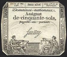 Frankreich / France - Assignaten - 50 Sols 1792-93 Pick A70 (3)