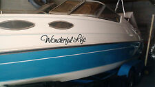Personalized Boat Name Stickers 6x30 (2) Custom Boat Name Decal Sticker Set of 2