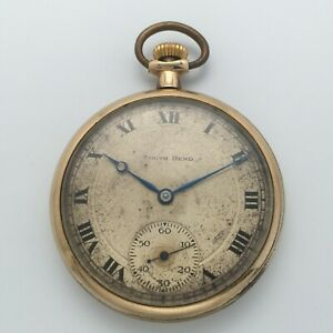 Antique 1920 South Bend Grade 411 17J 12s Open Face Pocket Watch Triple Signed
