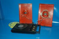 Maleta vintage Tocadiscos Philips stereo 200 color rojo año-1975-sin aguja