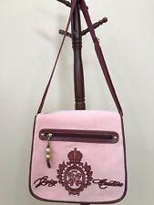 Juicy Couture Crossbody/Messenger/Satchel Laptop Bag Light Pink/Maroon Logo