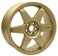 Revolution Rally 8.0x18 Millennium Alloy Wheel ET48 Gold For Subaru GC8Impreza