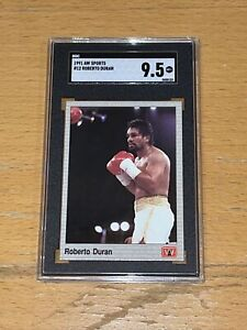 1991 AW Sports Boxing SGC 9.5 #12 Roberto Duran RC Rookie