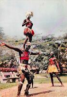 CPSM AFRIQUE COTE D IVOIRE ABIDJAN Groupe de danseurs danseuses dans la parc