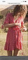 Auguste Dsphne Easy Days Wrap Mini Dress Size 10 Euc