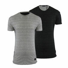 Cotton Blend Personalised Loose Fit Striped T-Shirts for Men