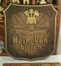 Vintage Heineken bieren Beer Sign Wall Hanging Shield Plaque