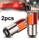 Red 1157 COB LED Car Tail Stop Brake Light Turn Signal Bulb Lamp 12V 2Pcs