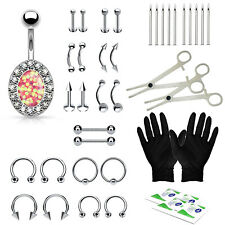 BodyJ4You 36PCS Professional Piercing Kit Steel 14G 16G Belly Ring Tongue