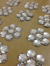 Silver Rhinestone Applique,Motif,edging,trim,sequins,beads 1 X (7.5 cm Approx)