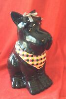 Scottie Dog Ceramic Cookie Jar - This Dog Needs A Forever Home