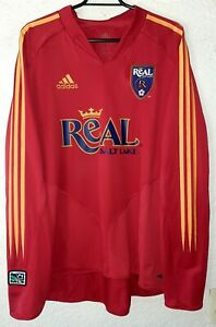 MLS Real Salt Lake Adidas 2005 Eddie Pope Player Issue L/S Home Soccer Jersey