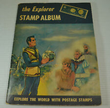 Vintage 1960 The Explorer Stamp Album Filled 400+ Stamps 112 Pages Harris