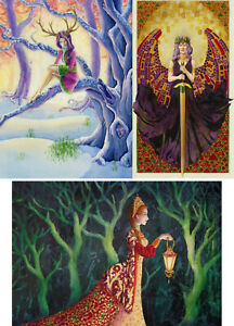 Fantasy SOLSTICE Winter GODDESS Angel FAIRY Folk TALES Pagan CARD