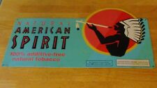 Natural American Spirit 100% Additive Free Cigarette Tobacco Metal Tin Sign