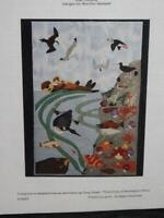 Coastal Alaska Slice of Life Wall Quilt Pattern Copper River Designs Otter Birds