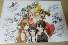 Sword Art Online Clear File Autograph Anime Movie Special Gift Japan VERY RARE!!