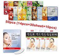 54pcs 3W Clinic Korean Essence Facial Mask Sheet Moisture Sheet Mask, Nose strip