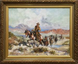 """Herding horses"", western art,  American Old West, o/c by Irek T Szelag"