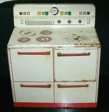 Vintage 1950's Wolverine Tin Lithograph Toy Stove Oven Kitchen