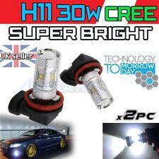* 2X H11 30w CREE XENON WHITE LED FOG LIGHT BULBS UK PAIR SPOT SUPER CREE BRIGHT