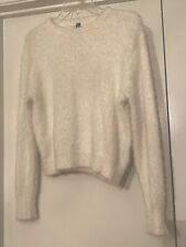 H&M Divided Women's Fluffy White Size Small (Juniors) Long Sleeve Sweater