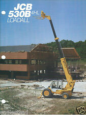 Equipment Brochure - Jcb - 530B 4Hl Loadall - Material Handler - c1985 (E3121)