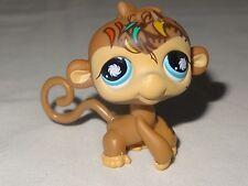 Littlest Pet Shop LPS 946 Brown Postcard Safari Monkey Blue Pinwheel Ape Tattoo