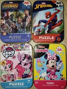 Puzzles (4) - Avengers Infinity War - Marvel Spiderman - My Little Pony - Minnie