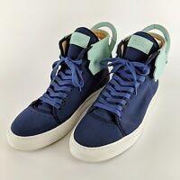 BUSCEMI Ronnie Fieg 110MM Teal & Blue Italian High Top Sneakers Size 45