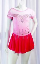 BSU Competition Skating Dress Pink Ombre All SIzes