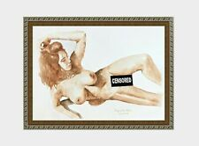 aquarelle watercolor A4 nude female drawing originale nu women woman girl new 5